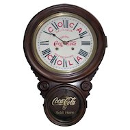 """Coca-Cola"" Advertising Store Clock within a Figure 8 Rosewood Case !"