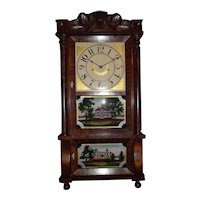 Civil War Period Triple Decker  8 Day Clock with Time & Hourly Strike Circa 1845 to 1860.