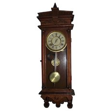 "Fabulous Small Wall Regulator,  ""Halifax"" Model with 8 Day Time & Hourly Strike, made by ""Waterbury Clock Co."" circa 1912 !"