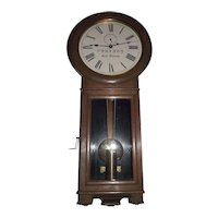 """""""Pennsylvania Railroad"""" Seth Thomas No. 2 Regulator in a Fine Solid Walnut Case with an Early 3 Piece bottom made Circa 1913 to 1921 !!!"""