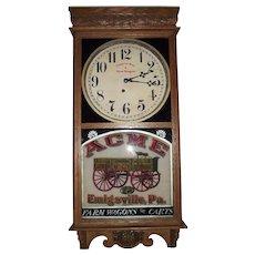 "Rare ""Acme Wagon"" Advertising Clock made by the E. Ingraham Clock Co. circa 1914 to 1930's."