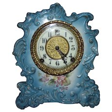 "Antique Wm. Gilbert Porcelain Clock with a marked ""No. 427"" China Case."