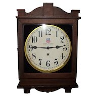 """Union Station * Louisville,Ky."" Gallery Clock in Original Dark Oak Case Circa 1920's !"