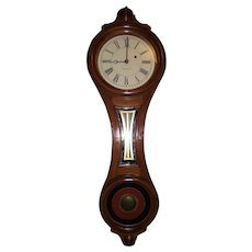 "Rare ""E. Howard & Co. Model No. 10"" Walnut Figure 8 shape Wall Clock circa 1870's !!!"