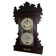 "RARE ""Feichtinger Double Dial Calendar Clock"" made Circa 1895 to 1905 !!!"