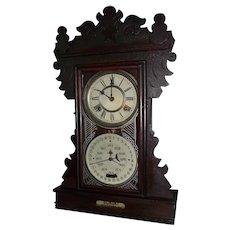 """RARE """"Feichtinger Double Dial Calendar Clock"""" made Circa 1895 to 1905 !!!"""