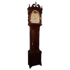 """Lancaster County Pennsylvania Solid Mahogany Tall Case Clock signed by Owner """"Wm. W. Edwards * Phila."""" Circa  1820 !"""