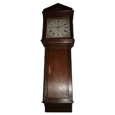 "Rare signed ""J. Whitaker * Guisborough"" English Monumental 8 Day Tavern Clock in a Fabulous Architectural Quarter-Sawn Oak Case with Curved Return bottom."