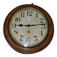 16 inch Gallery Clock with 12 inch Dial made by the New Haven Clock Co. circa 1925 !!!
