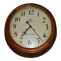 """Large 26 inch """"Pittsburgh & Lake Erie Railroad"""" 15 Day Gallery Clock in a Deep Oak Case Factory Dated 1913 !!!"""