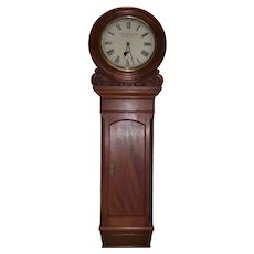 "Historic signed ""James  Ritchie & Son * Edinburgh"" Scottish Clock, with Astronomical Grade Movement, in a Fabulous Carved & Paneled Solid Mahogany Case !!!"