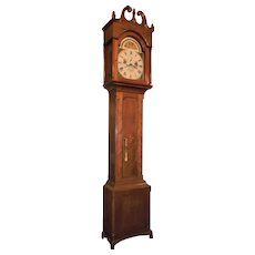 "Rare Signed ""David Gobrecht * Hanover, Pennsylvania"" Federal Tall Case Clock in Cherry Case !"