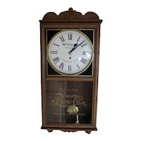 """Rare """"McCrory's 5 and 10 Cent Store""""  Pepsi-Cola Advertising Clock ! Circa 1940's to 1950."""