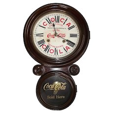 "Original ""Houston Coca Cola Bottling Co."" Figure 8 Advertising Clock made by the E. Ingraham Clock Co."