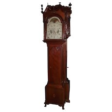 Signed John M. Wiedenmeyer * Fredericksburg, Virginia Tall Case Clock in a Solid Cherry Case circa 1810 !!!