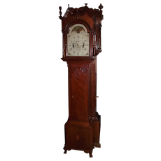 Signed John M. Wiedenmeyer * Fredericksburg, Virginia Tall Case Clock in a Solid Cherry Case circa 1810 !!!