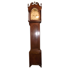 "Rare Signed ""Jacob Hostetter * Hanover"" Pennsylvania Federal Tall Case Clock in Solid Walnut Case !"