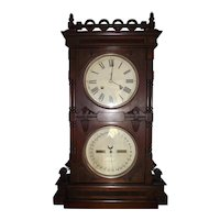 Rare Seth Thomas Parlor No. 10 Double Dial Shelf Clock in a Walnut Case Dated 1889 !!!