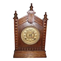 Ansonia Shelf Clock in a Solid Oak Case circa 1908 !