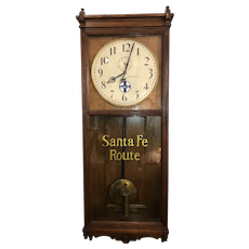 "Massive Oak ""Santa Fe Route"" Authentic Railroad Clock, Circa 1909 Seth Thomas Model No. 31 Regulator from the ""Traffic Office * 412 Commerce Street * Atchison,Kansas""  !!!"