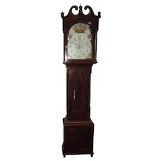 "Rare ""Charles Canby * Wilmington"" Delaware Tall Case Clock in a Fabulous Flame Mahogany Case with Original Receipt Dated 1832 !"