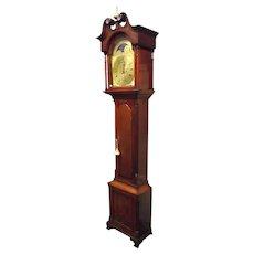 "Rare Clock Signed ""George House * Hanover"" Pennsylvania with a Gilded Dial in a Cherry Wood Case circa 1825 to 1840 !"