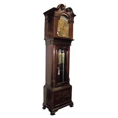 """Tiffany & Company"" Mahogany Grandfather Clock with 3 Selectable Tunes played on 9 Durfee Chiming Tubes  !!! Circa 1888 to 1902."