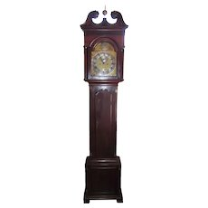 """High Style Solid Mahogany Chippendale Case Signed """"Benjamin Chandlee * Nottingham"""" Pennsylvania Tall Case Clock !!!"""