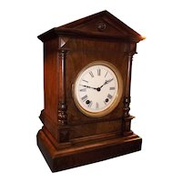 "German ""Winterhalder & Hofmeier"" 1/4 Strike Walnut Bracket Clock Circa 1890's !"