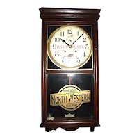 """Chicago Northwest Railroad"" Watch Repairman's Advertising Clock !!!"