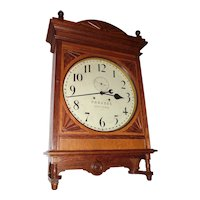 "LARGE  Pennsylvania Railroad Seth Thomas ""Lobby"" Model Clock with the Webb C. Ball Upgrade Movement, Oak Case Dated 1901 !!!"