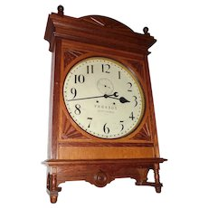 "LARGE  Pennsylvania Railroad Seth Thomas ""Lobby"" Model Clock with the Webb C. Ball Upgrade Movement, Oak Case Dated 1901 !!!"