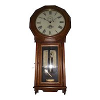 "Rare ""Baltimore & Ohio Railroad Clock"" in a Seth Thomas # 3 Regulator with Solid Oak Case !!! Circa 1884 to 1890."