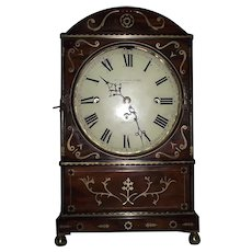 "Triple Fusee 9 Bell Musical Bracket Clock by ""Widenham & Adams * Lombard Street * London"" Regency Period with Brass inlaid Mahogany Case Circa 1835 !!!"