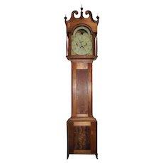 "Rare Signed ""Michael Strieby * Greersburg"" Beaver County, Pennsylvania Tall case Clock with Walnut Case Circa 1795 !!!"