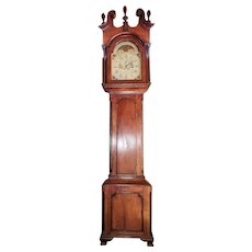 """""""John Fessler * Frederick Town"""" Maryland Chippendale Tall Case Clock in Cherrywood Case with Historic Sharpsburg, Md. Family Provenance !!!"""