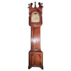 """John Fessler * Frederick Town"" Chippendale Tall Case Clock in Cherrywood Case with Historic Sharpsburg, Md. Family Provenance !!!"