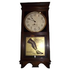 "Very Fine ""Chicago Rockford Hosiery Company"" Clock Advertising ""Ladies Leather Stockings"" !"