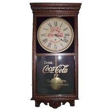 "Fancy Cased Advertising ""Coca Cola Store Regulator"" Clock made Circa 1925 !!!"