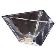 Triangle Shaped Bowl/Vase Made by Orrefors