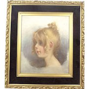 Antique Portrait of a Girl Oil Painting on canvas