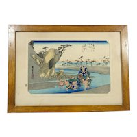 Small Vintage Japanese Woodblock Print