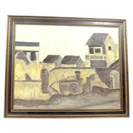 Vintage Framed Oil on Board Painting Signed By Pratt