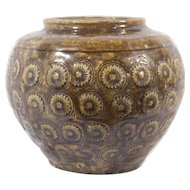 Early 19th Century Thai Pottery with Flowers