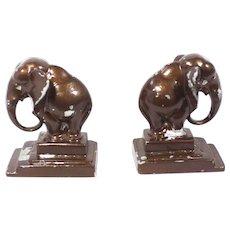 Vintage Art Deco Elephant Bookends