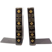 """Vintage """"History of Nations"""" Book Bookends"""