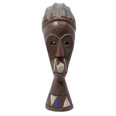 Vintage Wooden African Mask Handcrafted in Ghana