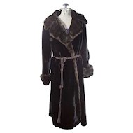Vintage Baskin Borgazia Styled by Fairmoor Black Faux Fur Coat approximate size 7 small to medium size