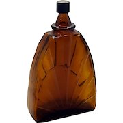 Art Deco Apothecary Sunrise Medicine Bottle Cologne Perfume Dark Brown Bottle