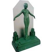 Original Frankart Art Deco Lady Lamp, Nude Girl, Figural Lamp Light